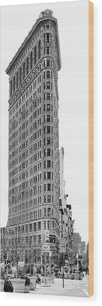 Black Flatiron Building II Wood Print