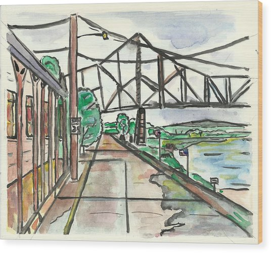 Black Hawk Bridge Wood Print by Matt Gaudian