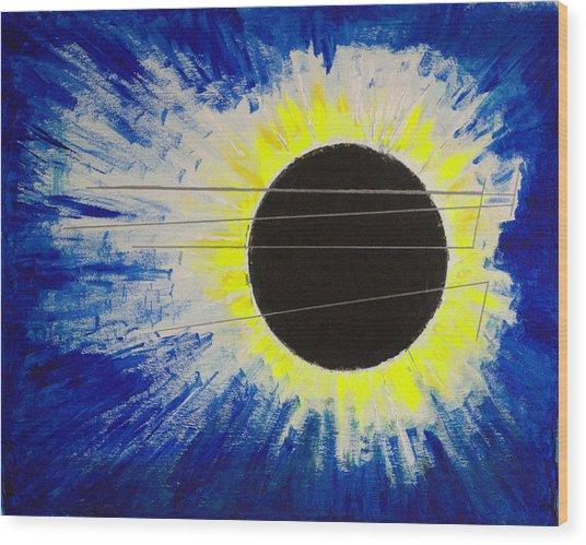 Black Hole Blues Wood Print