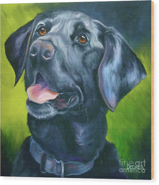 Black Lab Forever Wood Print