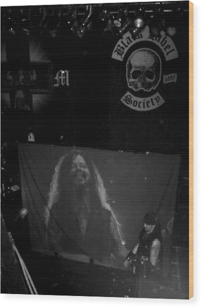 Black Label Dimebag Wood Print