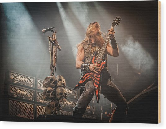 Black Label Society II Wood Print
