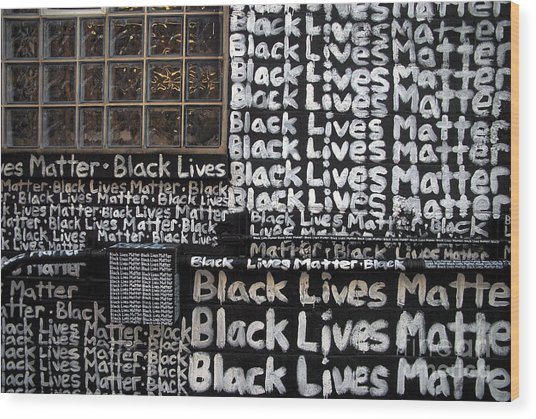 Black Lives Matter Wall Part 1 Of 9 Wood Print