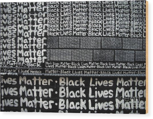 Black Lives Matter Wall Part 2 Of 9 Wood Print
