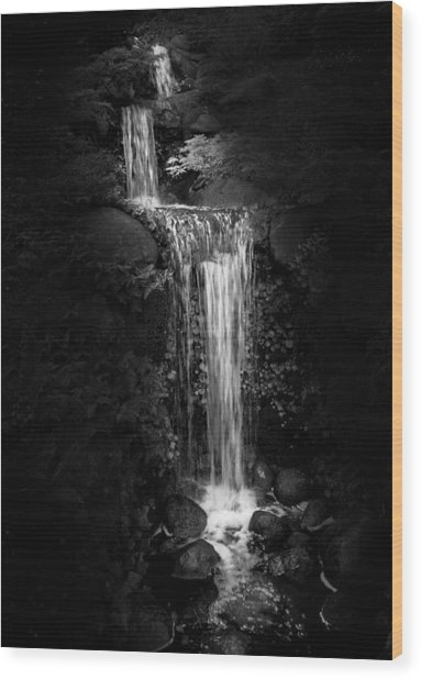 Black Magic Waterfall Wood Print