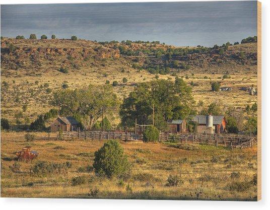 Black Mesa Ranch Wood Print