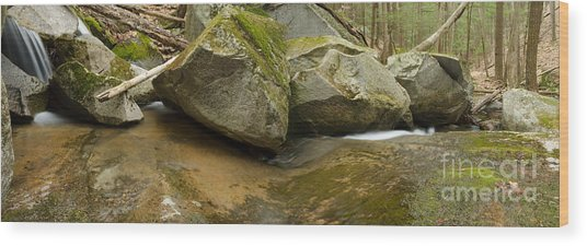 Black Mountain Pano Wood Print