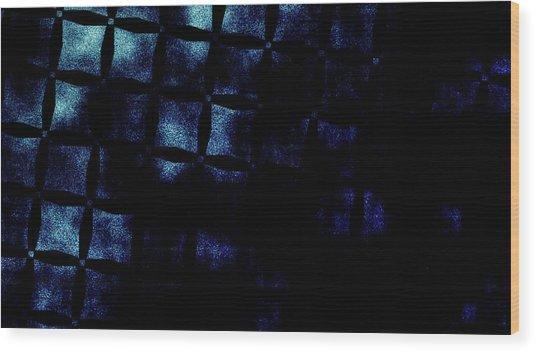Black N Blue Burn Wood Print