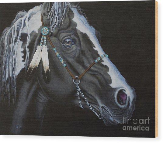 Indian Paint Horse Wood Print