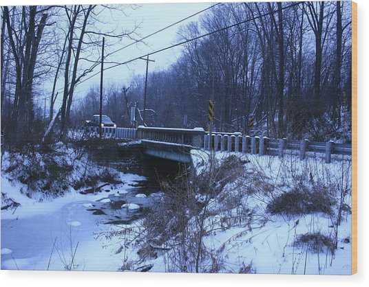 Black Rock Bridge Wood Print