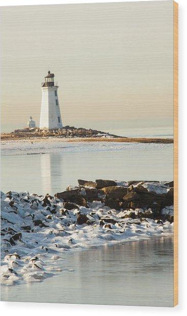 Black Rock Harbor Wood Print