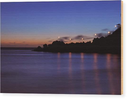 Black Rock Sunset Wood Print
