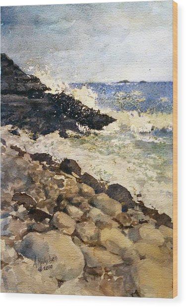 Black Rocks - Lake Superior Wood Print
