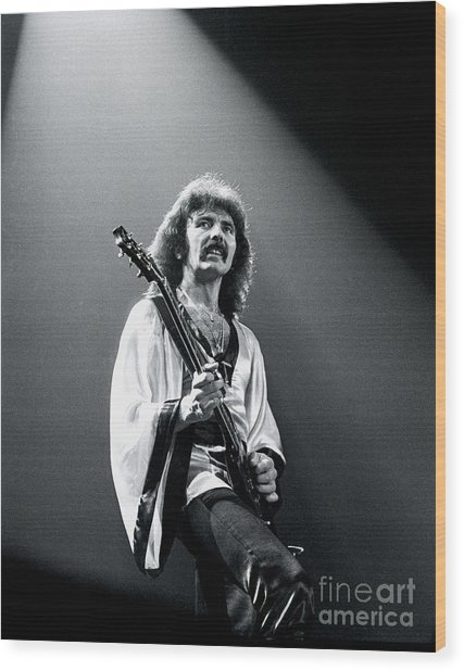 Black Sabbath 1978 Tony Iommi Wood Print by Chris Walter