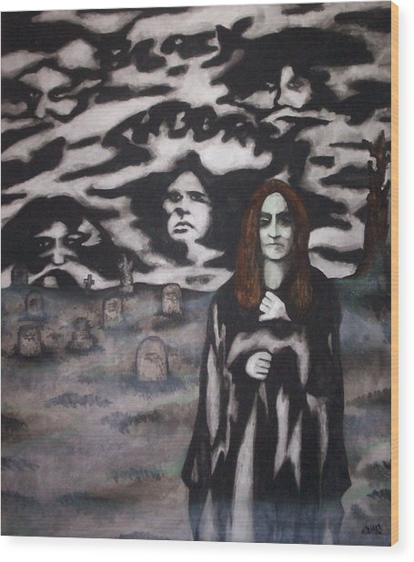 Black Sabbath Tribute Wood Print by Sam Hane