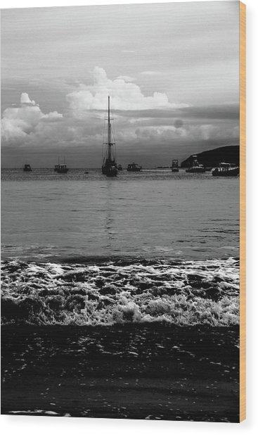 Black Sails Wood Print