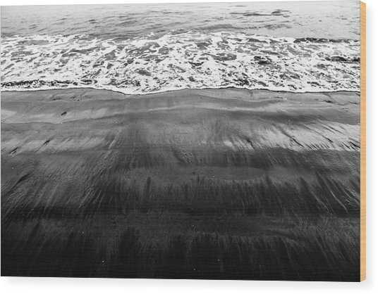Black Sands  Wood Print