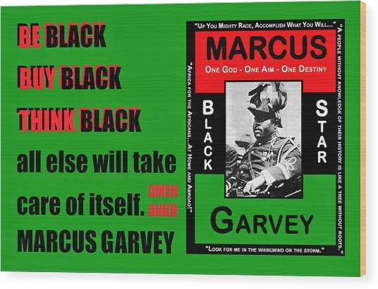 Black Star Garvey Wood Print