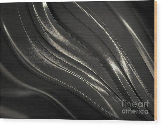 Black Steel Wood Print