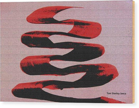 Black Walnut Ink Abstract #10 Wood Print