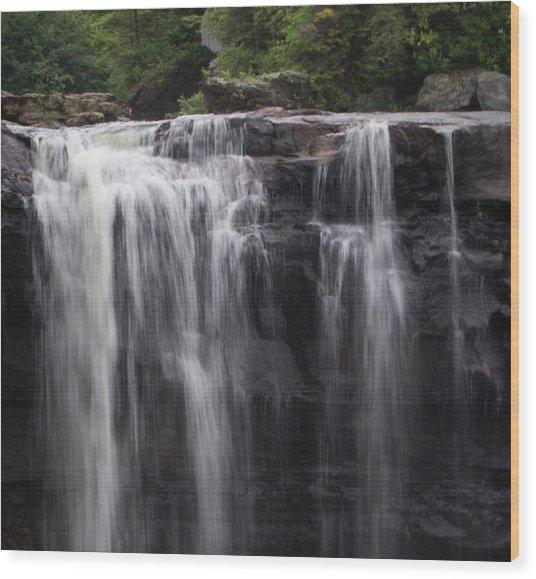 Black Water Falls Wv Wood Print by Jean Haynes