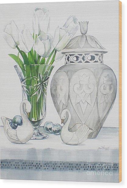 Blanc De Blanc Wood Print