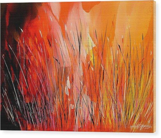 Blaze Wood Print by Yvette Sikorsky