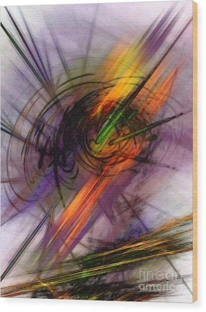 Blazing Abstract Art Wood Print
