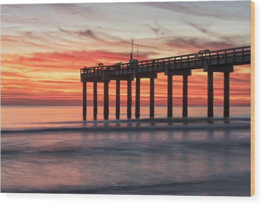 Blazing Sunrise Wood Print