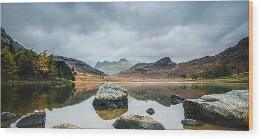 Blea Tarn In Cumbria Wood Print