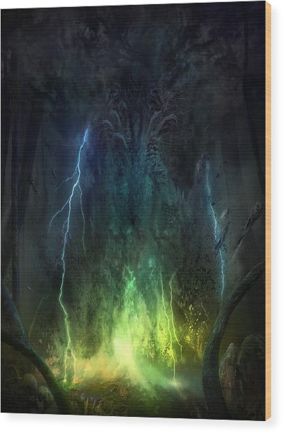 Bleak Swamp Wood Print