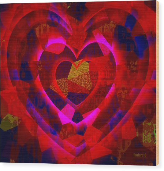 Bleeding Hearts For The Elderly In Haiti Wood Print by Fania Simon