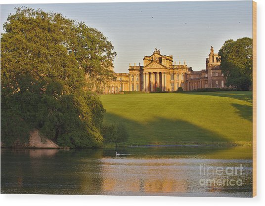 Wood Print featuring the photograph Blenheim Palace And Lake by Jeremy Hayden