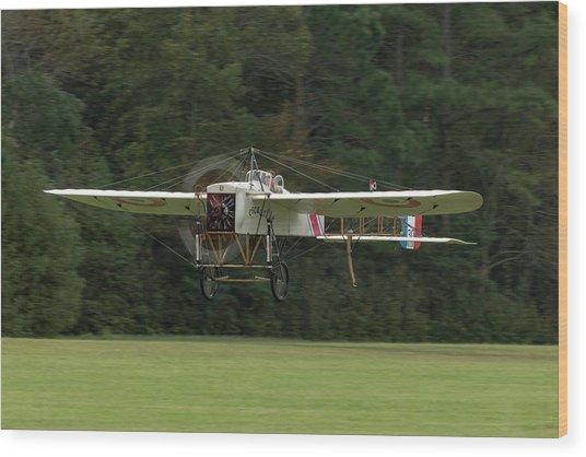 Bleriot Xi-2 Lifts Off Wood Print by Liza Eckardt