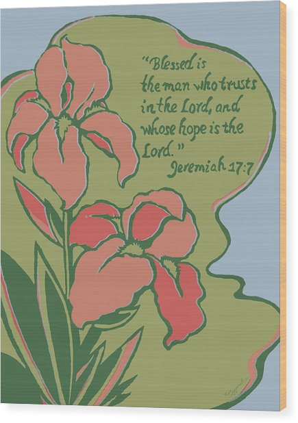 Blessed Is The Man Wood Print