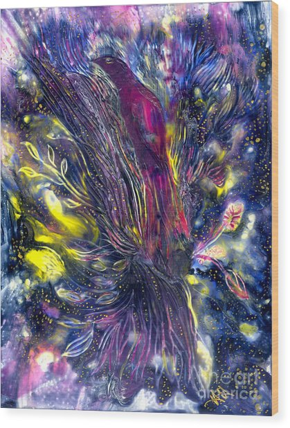 Blessing Of Freedom Wood Print by Heather Hennick