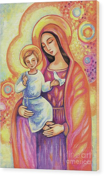 Blessing Of The Light Wood Print