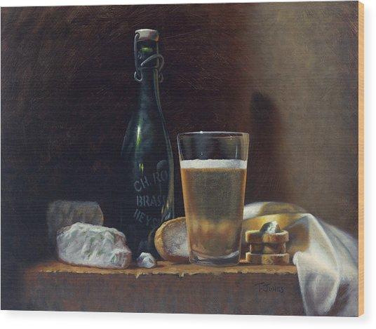 Bleu Cheese And Beer Wood Print