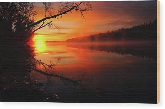 Blind River Sunrise Wood Print