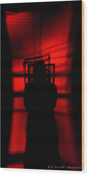 Blind Shadow Wood Print by Jonathan Ellis Keys