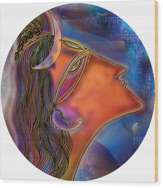 Bliss Shiva Wood Print