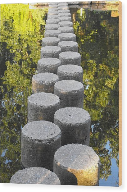 Blissful Path Of Tranquility Wood Print
