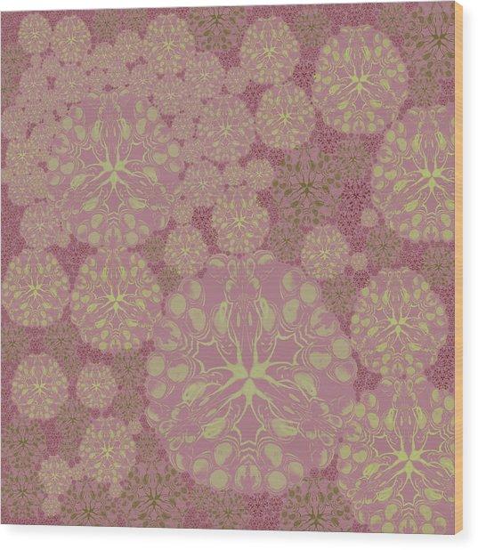Blob Flower Painting #3 Pink Wood Print
