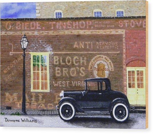 Bloch's Wall Wood Print