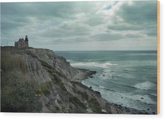 Block Island South East Lighthouse Wood Print