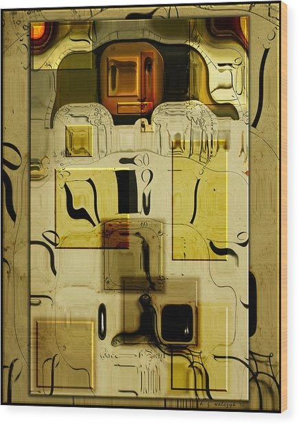 Blocks Of Time Wood Print by Daniel G Walczyk