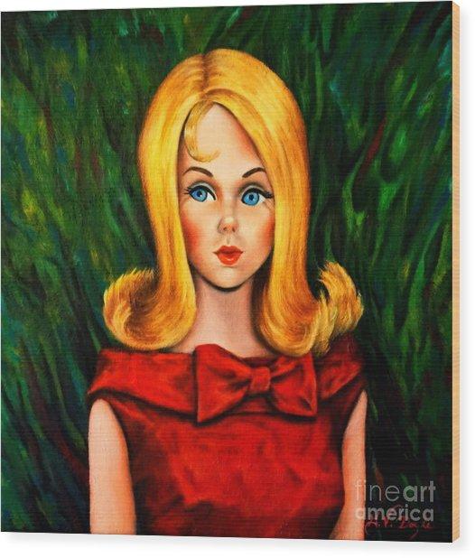 Blonde Marlo Flip Tnt Barbie Wood Print