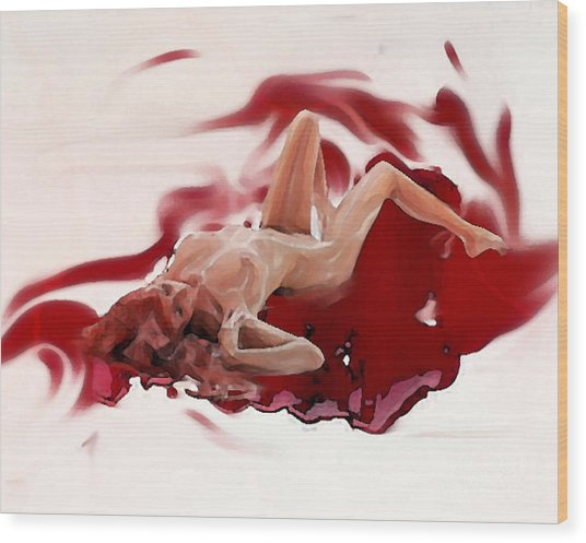 Blood Bath Wood Print