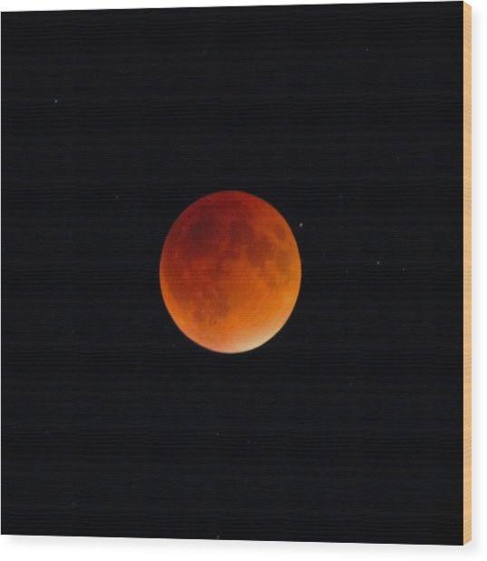 Blood Moon 2 Wood Print