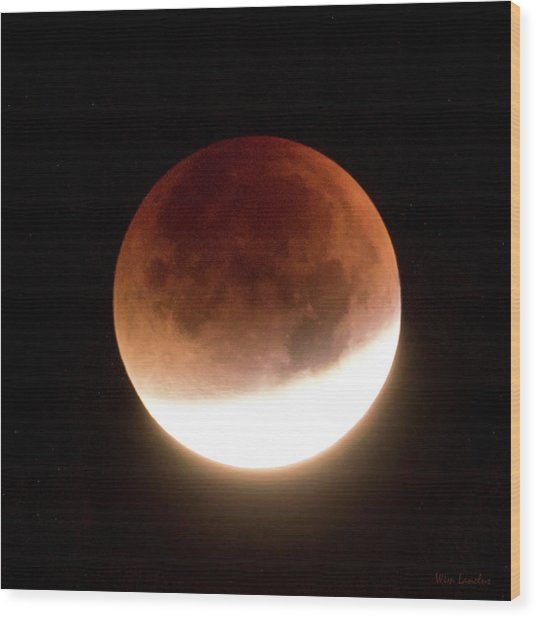Blood Moon Eclipse Wood Print